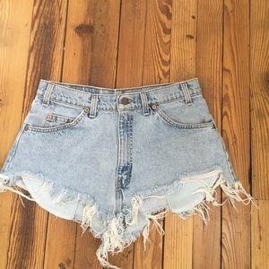 Vintage orange tab Levi shorts